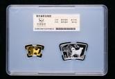 2018年戊戌狗年生肖扇形精制金银币二枚一套(含10克金、30克银、带盒、带证书、带封装盒)